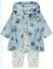 Disney Baby Boys Dumbo Dressing Gown and Pyjamas 3 Piece Set BNWT 9/12 Months