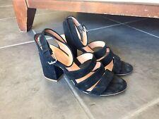Madewell Women's Size 6.5 Black Leather Strap Platform Heel Pump Sandal