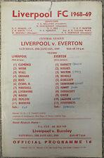 More details for liverpool reserves v everton reserves 1968/69