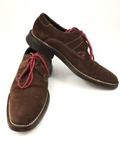 Cole Haan Lace Up Brown Suede Mens Casual Shoes Sz. 9 C04036