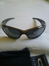 NEW AUTHENTIC VINTAGE HARD TO FIND OAKLEY BLACK CHROME SCAR SUNGLASSES