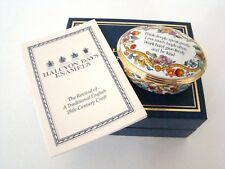 Halcyon Days Enamel Hinged Box - Think Deeply Speak Gently