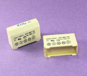 6pcs Thomson Metallized Polyester Film Box Capacitor 0.47uF 250VAC, GPF MKT X2