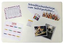 Schreibtischunterlage 40 x 60 cm transparent z Selbstgestalten für Bilder Notize