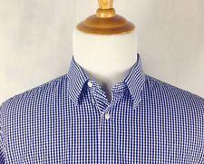 Ben Sherman Men's Long Sleeve Button Front Plaid Shirt Mens L Large 16.5 34/35