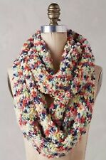 NEW Anthropologie First Snow Infinity Scarf Rainbow Multicolored Soft