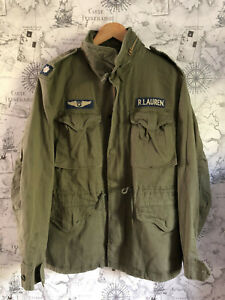 Polo Ralph Lauren Men`s M65 Combat Field Jacket, Military Green, Medium, BNWT
