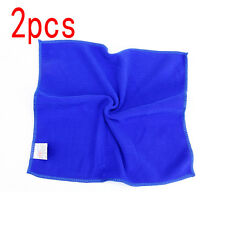 2pcs Car Water Absorbent Microfiber Cleaning Towel Car Wash  30x30cm Blue