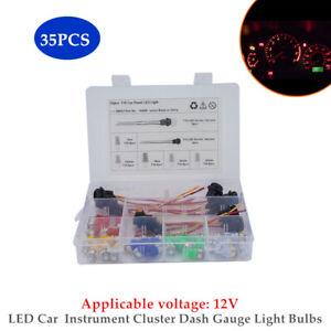 35× T10 1-5050-SMD LED Car  Instrument Cluster Dash Gauge Light Bulbs Universal