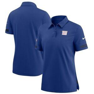 $80 Nike New York Giants NFL On Field Elite Performance Polo Blue Womens Size XS