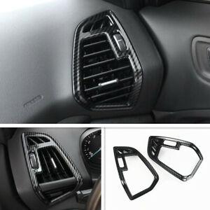 For Ford Escape Kuga 2013-2019 Carbon Fiber Interior Side Air Outlet Cover Trim