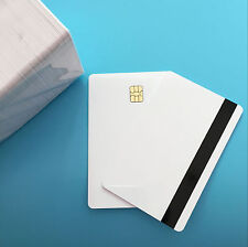 SLE4442 Hi co Magstripe White Smart Small Chip PVC Card Free ship by DHL