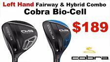 Cobra Bio Cell Left Handed 3 Fairway wood & Hybrid  Combo Reg Flex (2 Clubs) NEW