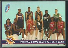 2005 WNBA Western Conference All-Star Team Sue Bird Diana Taurasi Lauren 292/333