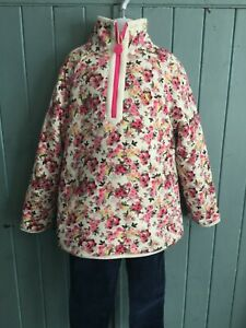 Cream Ditsy Cosette Sherpa Lined Top - 5-6 Years - Joules - BNWT - RRP £34.95