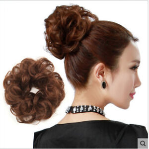 Extensions Wavy Curly Messy Bun Hair Piece Scrunchie Fake Hair Extensions