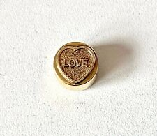 Solid Sterling Silver & Gold Plate LOVE HEARTS Charm