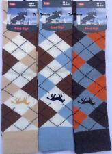 6 X Pairs Women's Argyle Horse Design Horse riding Socks Ladies Knee high Socks