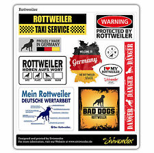 Auto Aufkleber Sticker ROTTWEILER COLLECTION reflex warning Sammlung SIVIWONDER