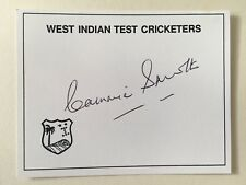 """West Indies cricket Cammie Smith signed Approximately 4"""" X 3""""  card"""