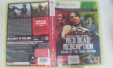 Red Dead Redemption Game Of The Year edition GOTY xbox 360