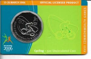 Australian Coin 50c Melbourne 2006 Commonwealth Games CYCLING - 50c Uncirculated