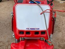 ATC Addiction Front Number Plate in RED. Honda 3 Wheeler 250R 350X 200X Maier