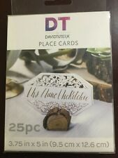 """Dt By David Tutera * Place Card * 25 Pc * 3.75"""" X 3.75"""" * Wedding Table * Lace"""