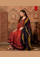 Bollywood Long Dress Fully Stitched Flare Cotton Long Dress Kurti Anarkali 08