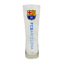 FC BARCELONA WORDMARK PERONI TALL BEER PINT GLASS 24 CM FOOTBALL NEW XMAS GIFT