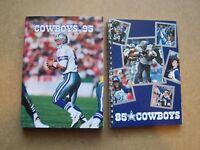 1985 & 1995 Dallas Cowboys NFL football media guides, Troy Aikman cover, v nice