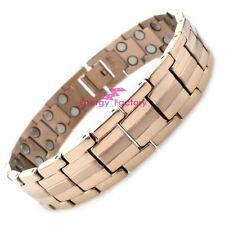 100% Rose Gold TITANIUM Magnetic Bio Energy Bracelet Arthritis Pain Relief