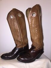MENS TONY LAMA BLK RANCH WORN TALL LEATHER RIDING COWBOY WESTERN BOOTS 9 D