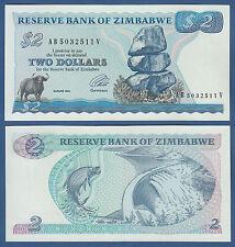 SIMBABWE / ZIMBABWE 2 Dollars 1994  UNC  P.1 d