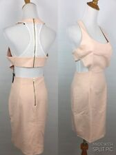 NWOT NBD X The Naven Twins Womens Small Blush Pink White Cut Out Back Dress A33