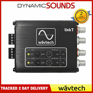 WavTech LinkT 2 Channel RCA Convertor Remote Hi  Low RCA with DSP Time Alignment