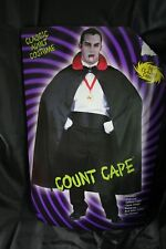 "Halloween Costume Unisex Count Dracula Cape Vampire Black 56"" Shoulder to Bottom"