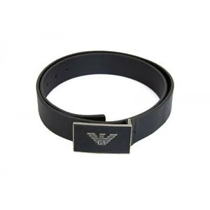 EMPORIO ARMANI Mens Plate Logo Belt (Black)
