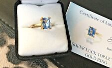 9K Yellow Gold Sheer Luck Topaz Ring - Size M - Certified - Very Rare