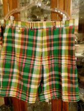 Ralph Lauren FAB Men Madras Plaid Shorts 36 Pink Green Yellow Blue Golf MINT