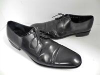Salvatore Ferragamo 10.5 D Black Leather Dress Oxfords Italy