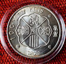 Spain 100 Pesetas 1966 General Franco Silver Coin Prot Caps Lot 1