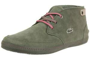 Lacoste Womens Khaki Green Pink Suede Clavel Trainers Shoes