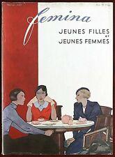 Femina Magazine ~ February 1933 ~ Vionnet Molyneux Paris Fashion