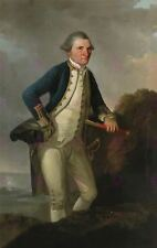 Retrato de pintura Webber el capitán James Cook Lienzo Arte Impresión
