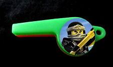 Ninjago - 8 Whistles -Party Favors Birthday Pinata Prizes Loot Noisemakers Ninja