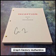 GFA Inception Director * CHRISTOPHER NOLAN * Signed Full Movie Script EJ2 COA