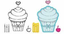 Heartfelt Creations Stamp/Die Combo SUGARSPUN CUPCAKE - Sweet Treats  -3870,7234