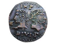 Rome Antique Auguste et Agrippa Dupondius As de Nîmes Artisanal 💥Réamorçage💥