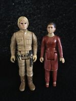 Vintage STAR WARS Bespin Luke Skywalker & Bespin Leia Action Figure Lot 1980
